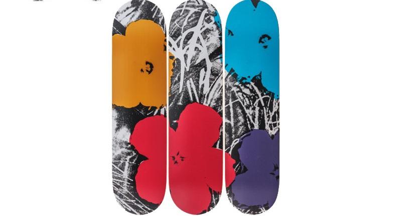 Skateboard Andy Warhol