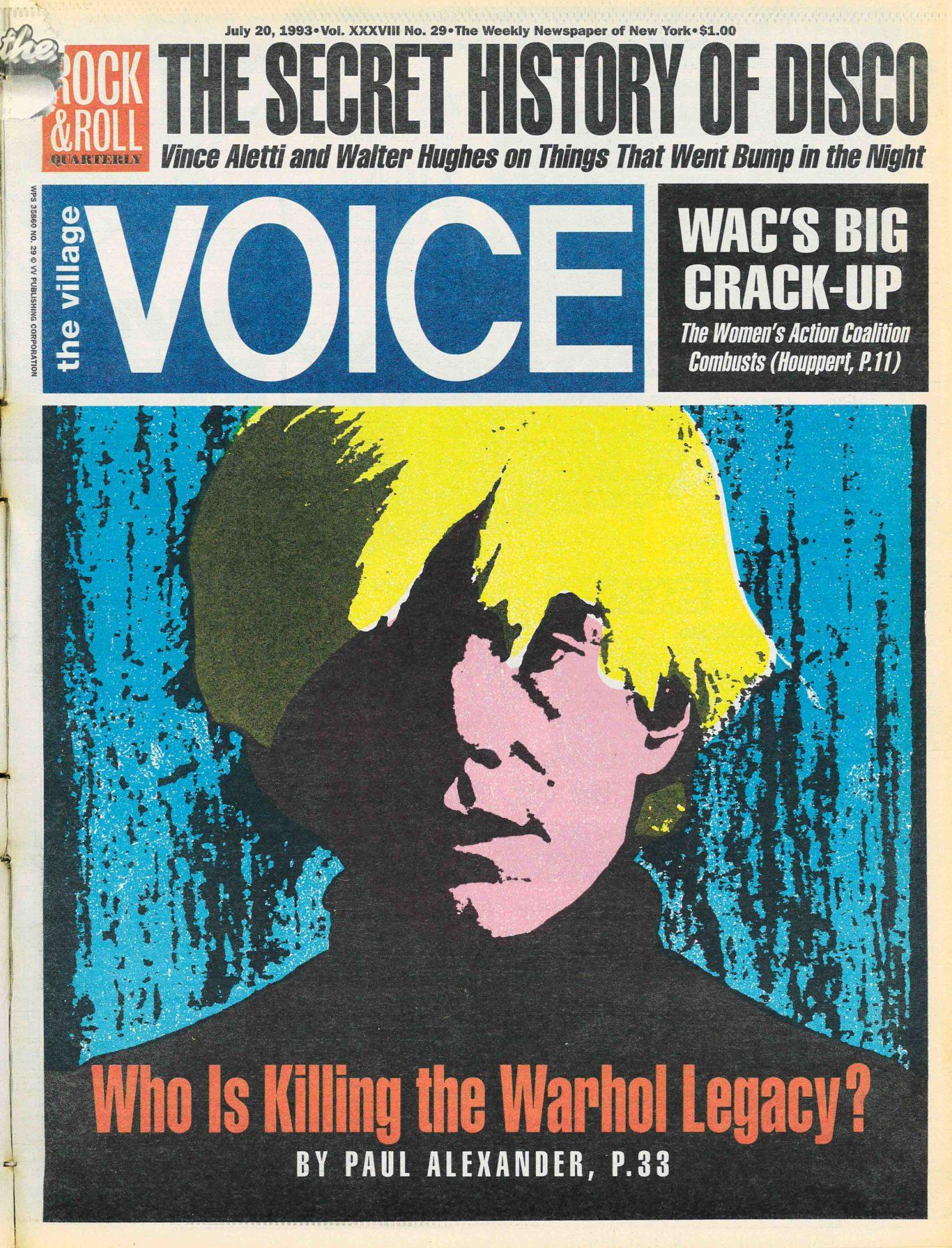 Andy Warhol, Village Voice