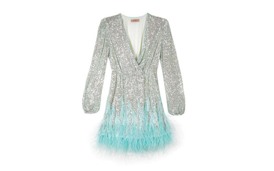 Vestido de lentejuelas Twinset 461 €, disponible en Golden Hall