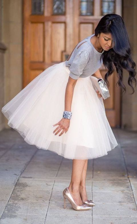 Fashion From 4: How to : Καλεσμένη σε γάμο με φούστα!