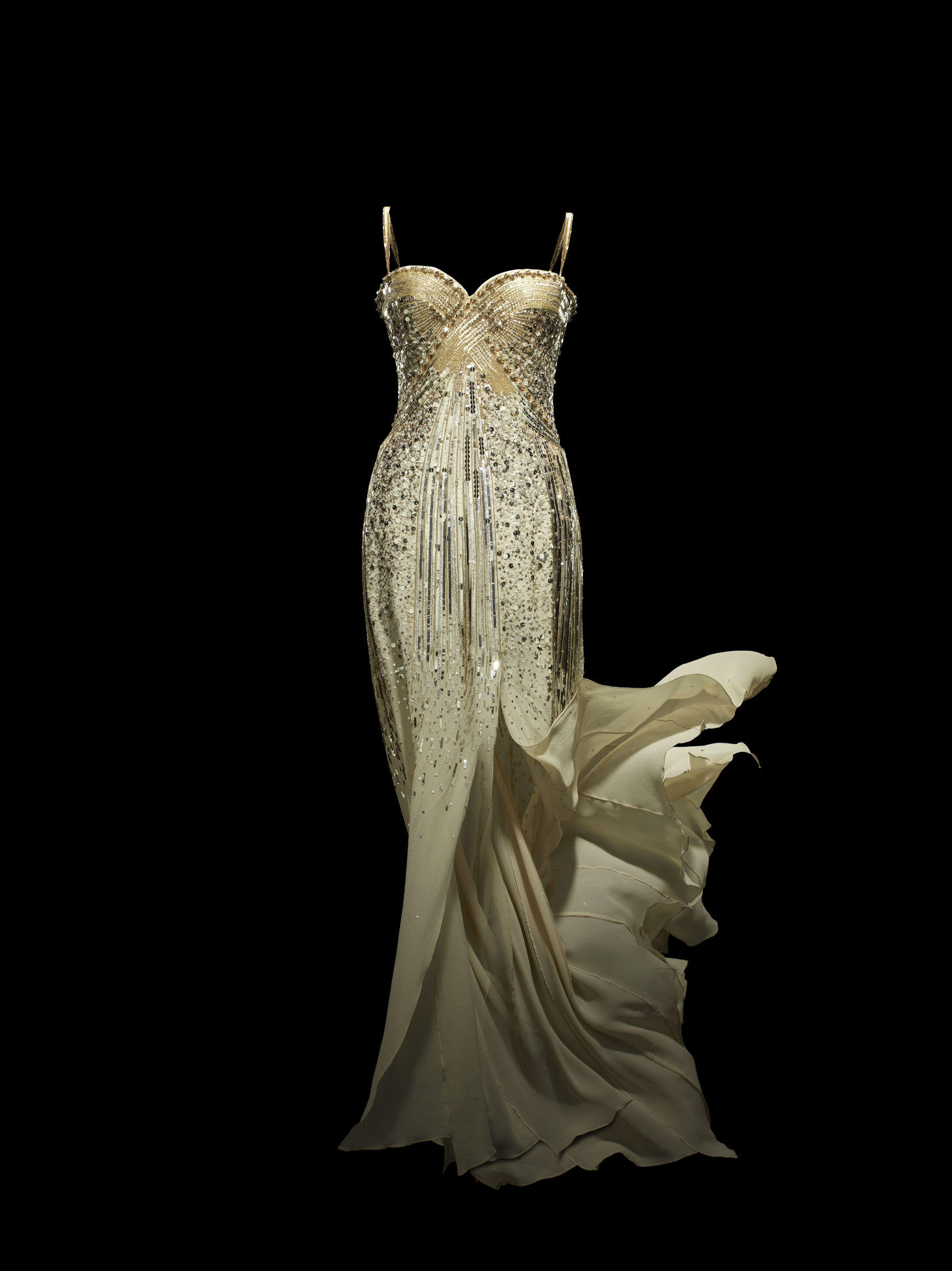Christian Dior by John Galliano, J'adore, Dress, Haute Couture, 2008 (custom-made) Photo © Laziz Hamani. Christian Dior Parfums collection, Paris