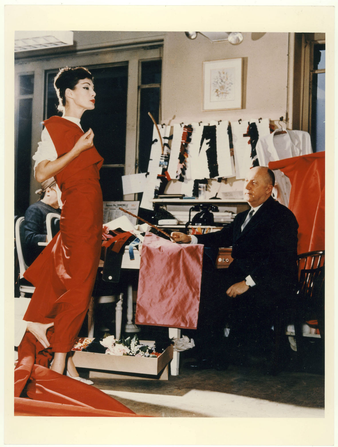 Christian Dior with model Lucky, circa 1955. Courtesy of Christian Dior - Copy